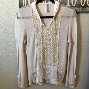 Anthropologie Maeve Hooded Light Weight Sweater.